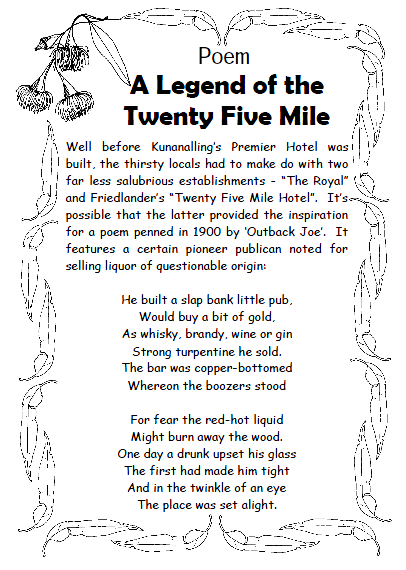 Poem - The Ledgend of the Twenty Five Mile