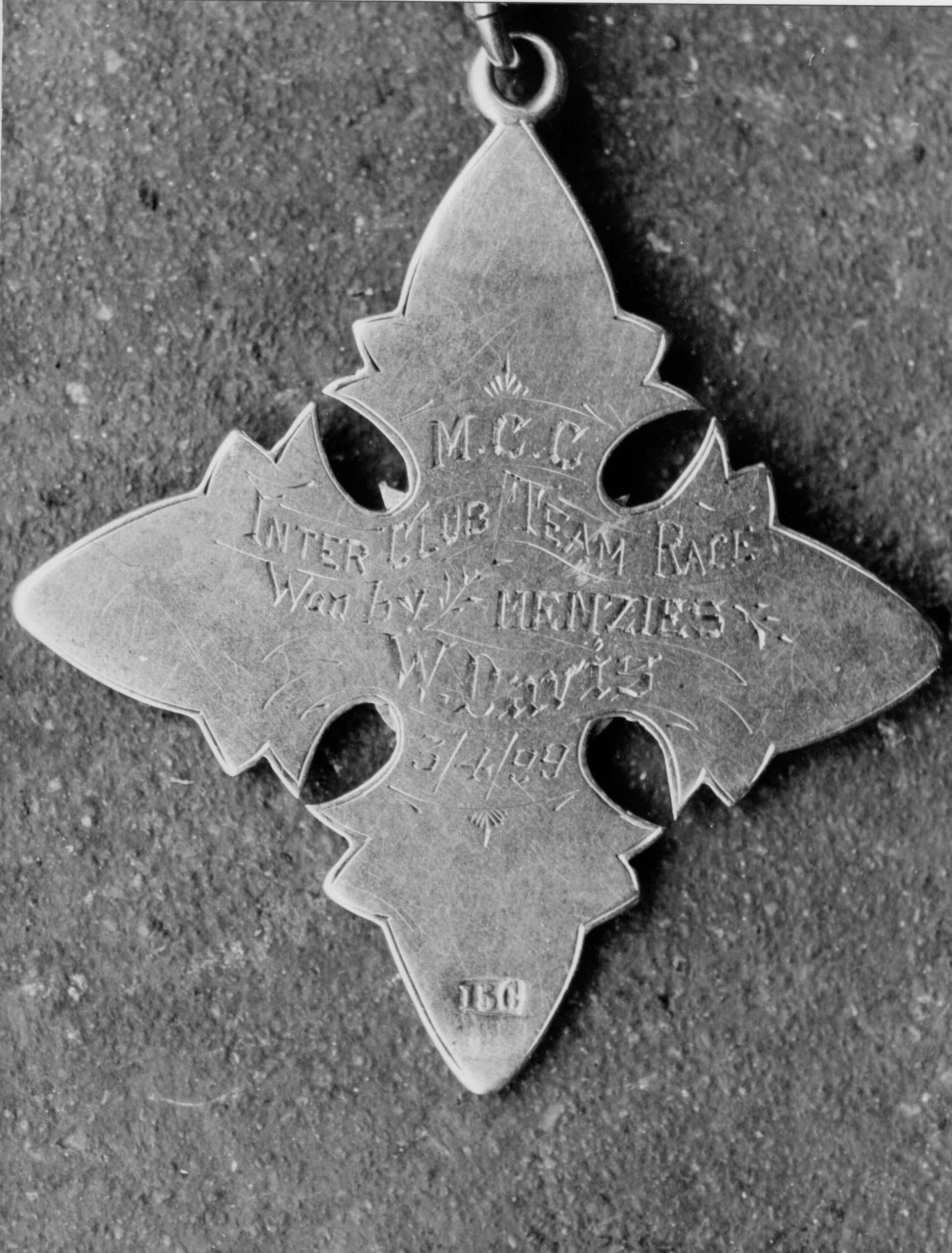 Medal of William Davies back