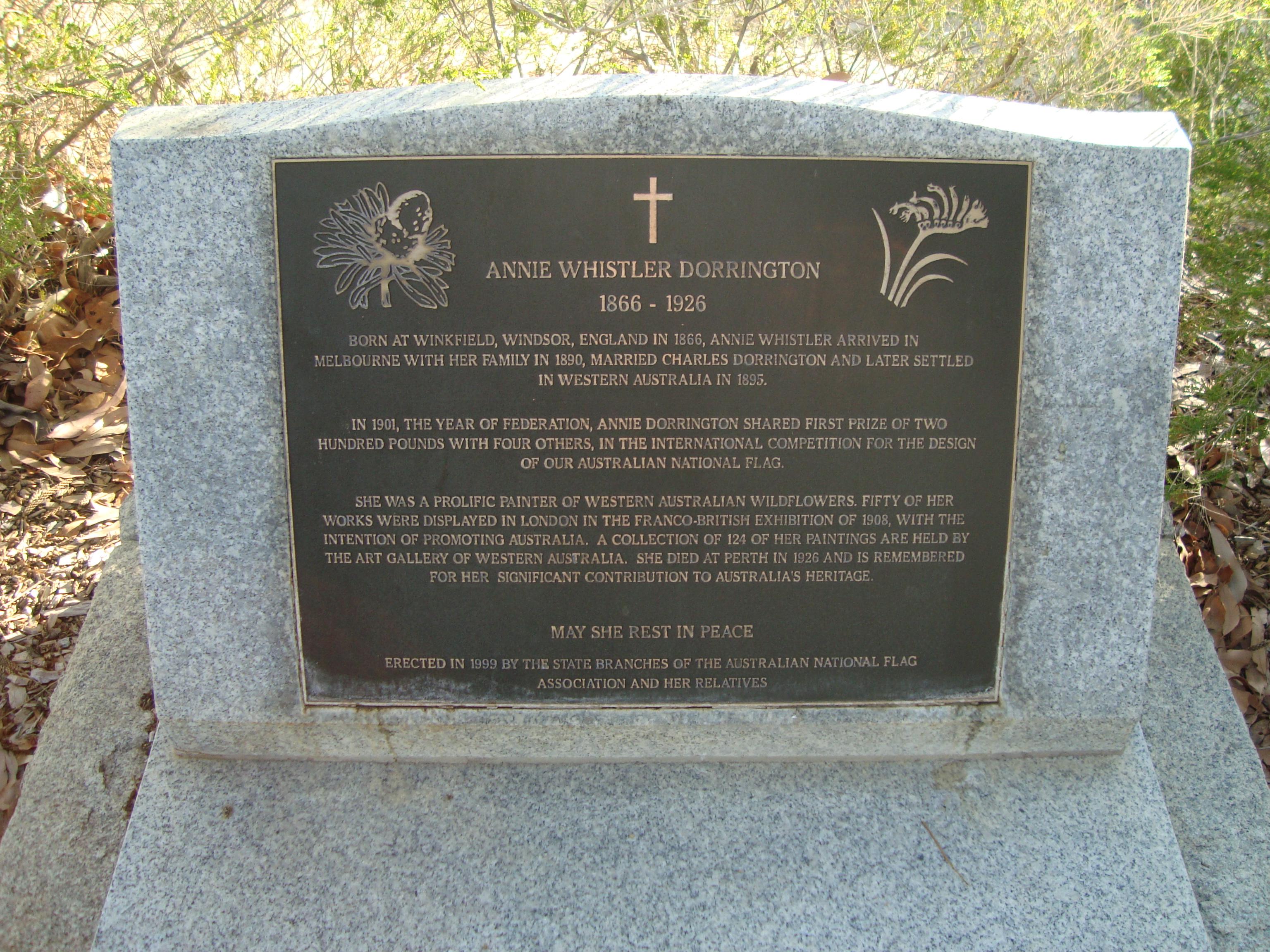 Annie Dorrington - Karrakatta Cemetery
