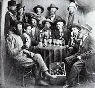 Miners drinking
