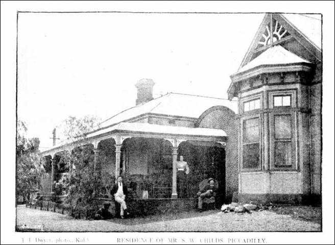 Kalgoorlie Western Argus  Tuesday 24 March 1903, page 20 Residence of S W Childs