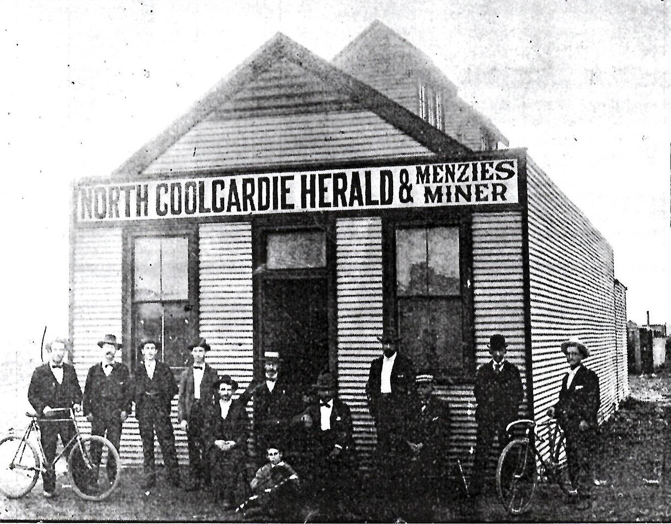 Offices of the North Coolgardie Herald and the Menzies Miner, Reid Street, Menzies