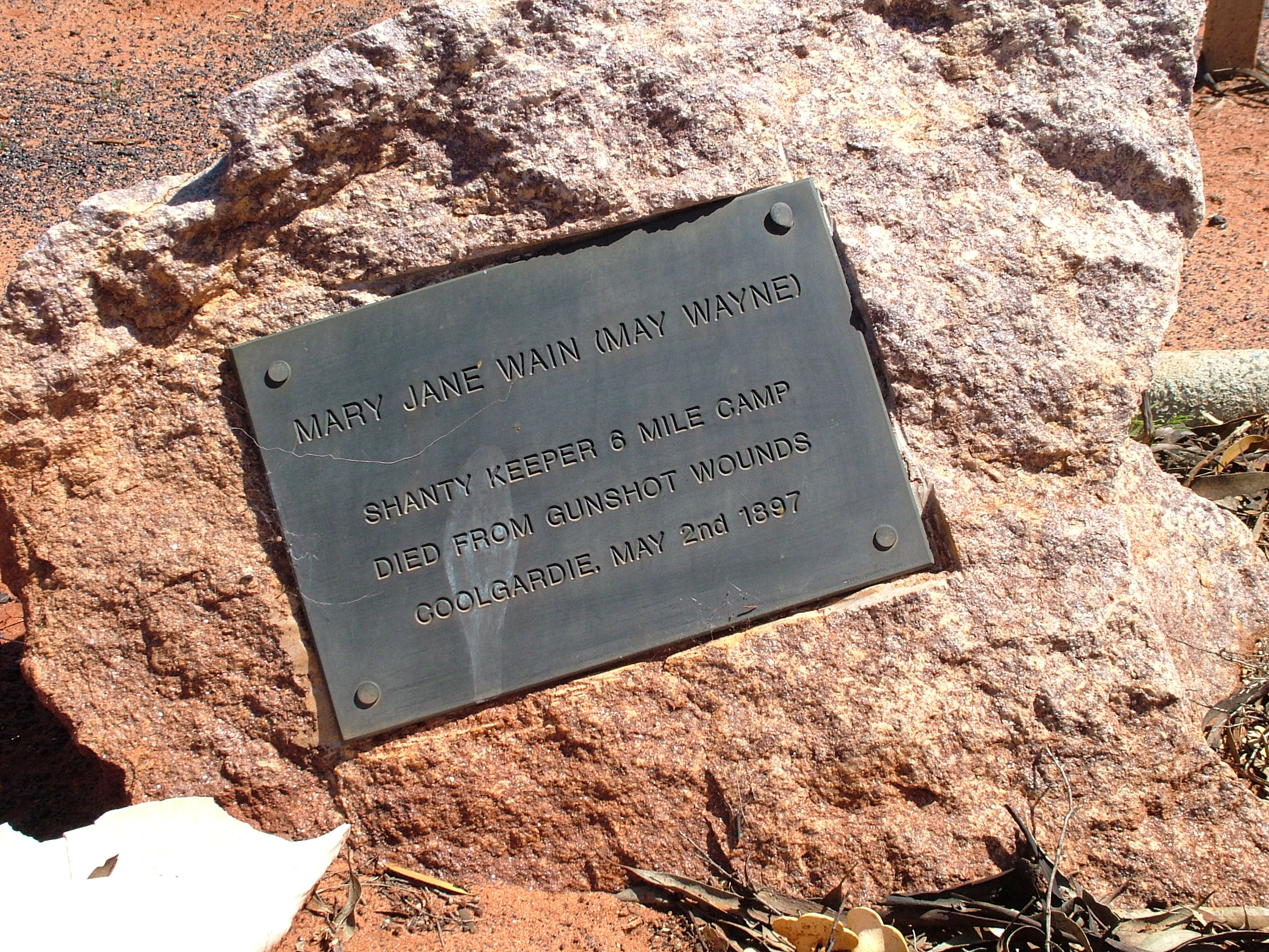 The Murder of May Wain – grave tales