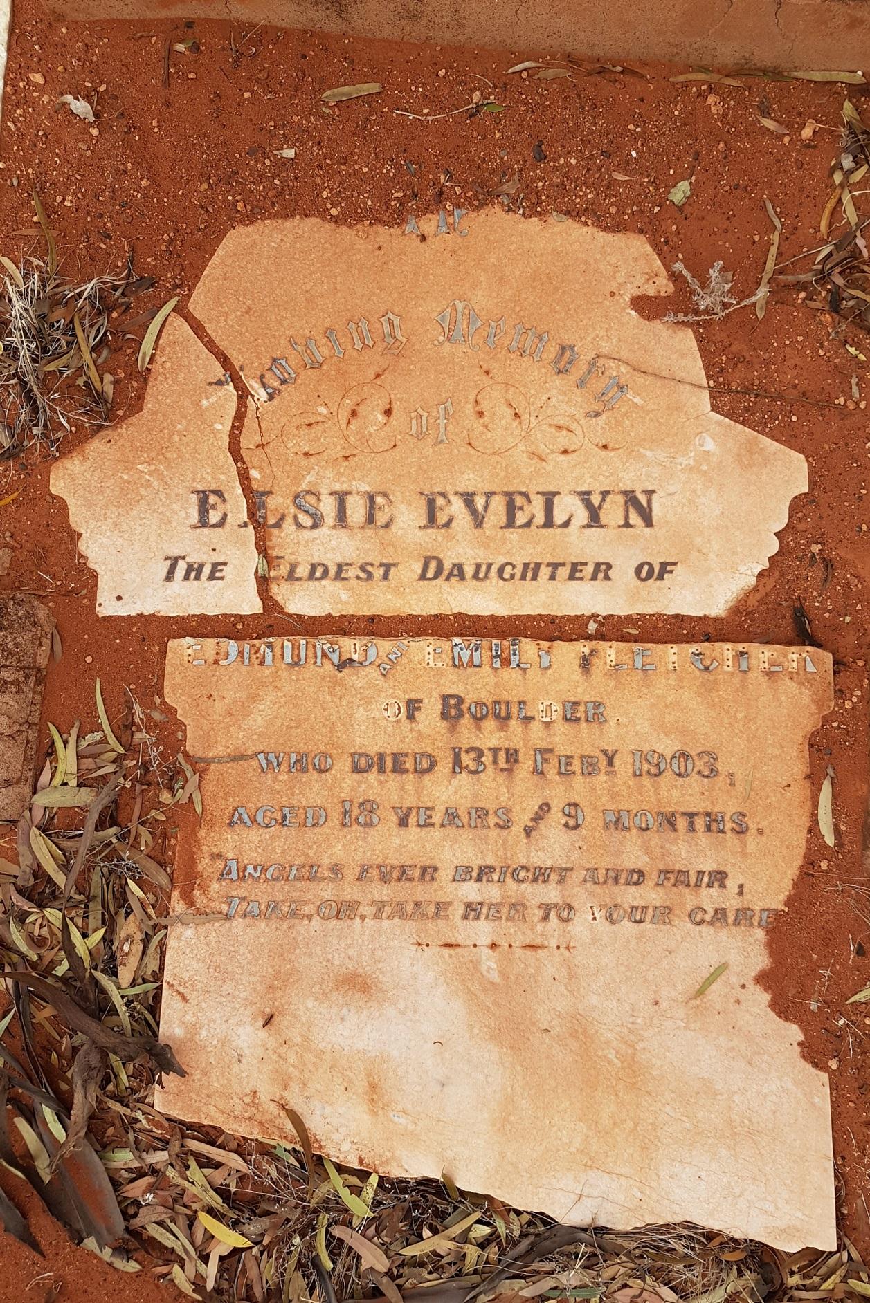 Miss Elsie Fletcher – grave tales