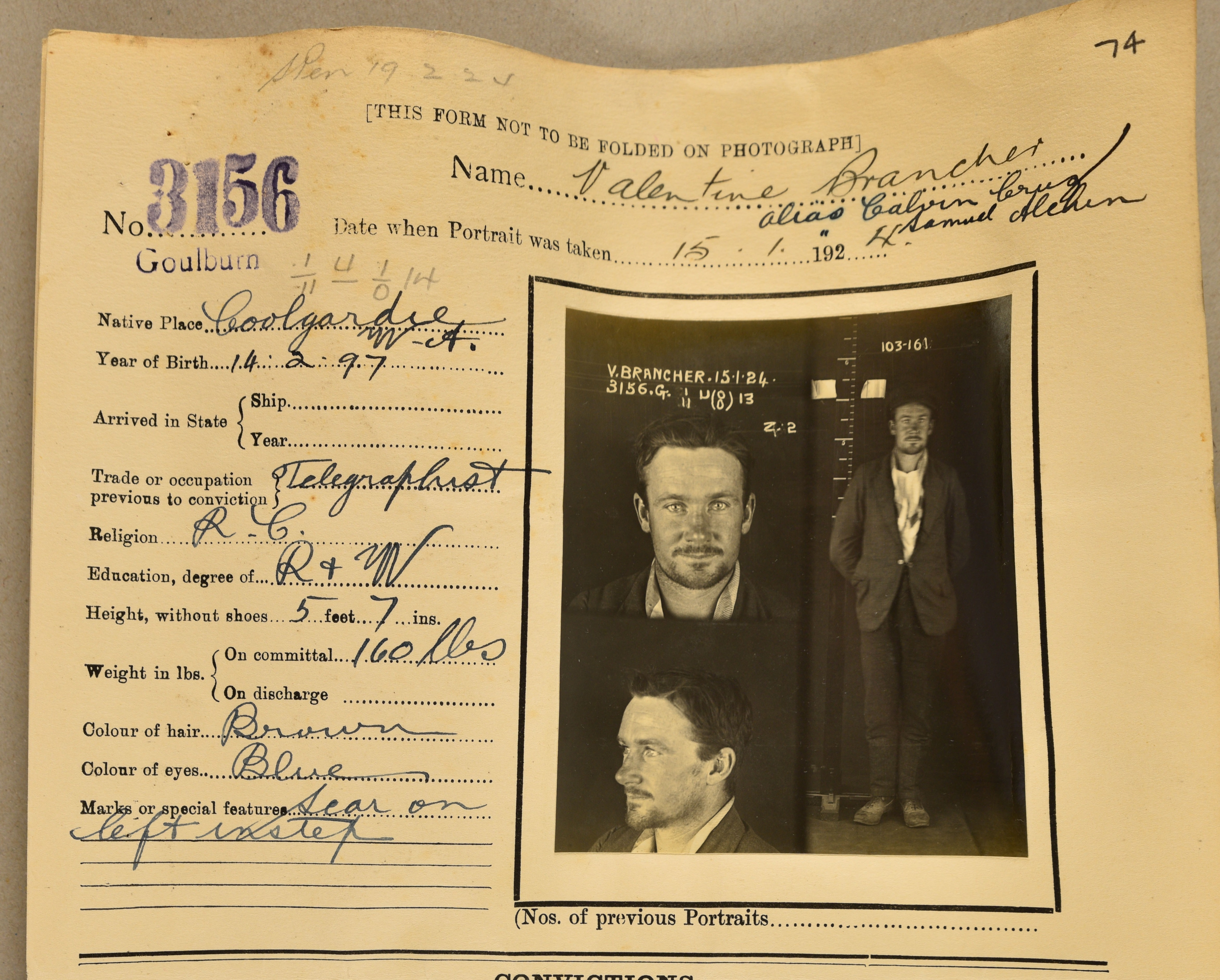Portraits of Crime – NSW archives
