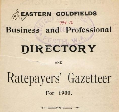 Ratepayers Gazetteer -1900