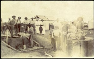 Main Street, Cue with Marshalls Hotel in background and well in street, ca1892