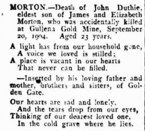 Gullewa MORTON Kalgoorlie Western Argus 18 October 1904, page 16