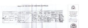 Death certificate for Michael Crennan